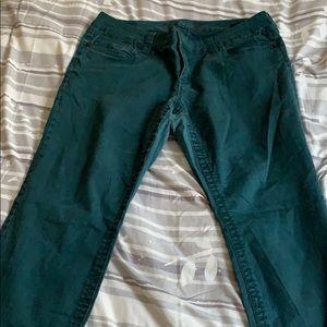 Seven Blue Teal Skinny Jeans size 18